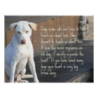Dog Quote Poster - Erica Jong