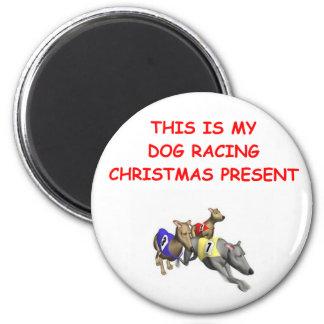 DOG racing christmas Refrigerator Magnets