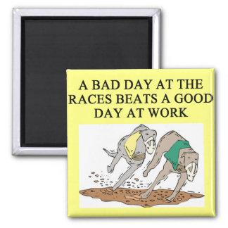 dog racing proverb fridge magnets