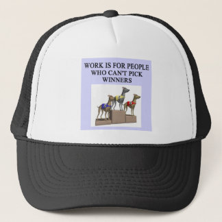 dog racing proverb trucker hat