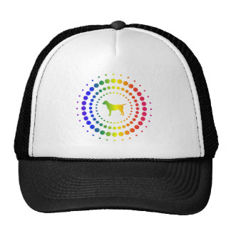 Dog Rainbow Studs Mesh Hat