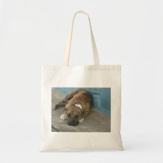 Dog relaxing tote bag