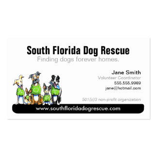 Dog Rescue Non Profit Black Tagline Double-Sided Standard Business Cards (Pack Of 100)