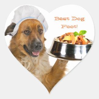 Dog Restaurant Heart Sticker