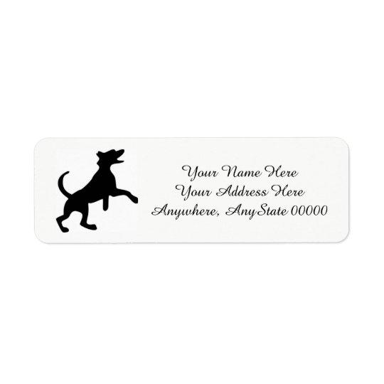 Dog Return Address Labels