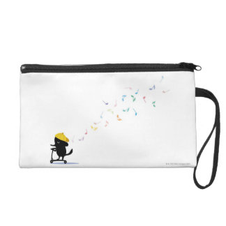 Dog Riding Scooter Wristlet