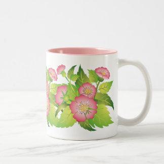 dog roses_white mug