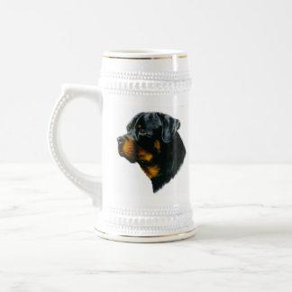 dog-rottweiler beer stein