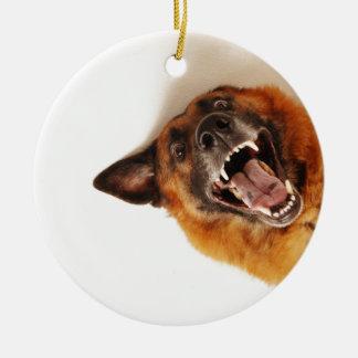 Dog Round Ceramic Decoration