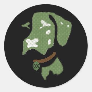 Dog Round Sticker