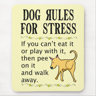 Dog Rules for Stress Mouse Mat