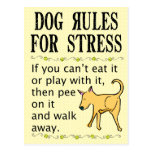 Dog Rules for Stress Post Cards