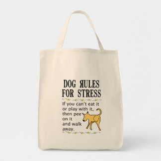 Dog Rules for Stress Tote Bag