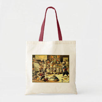 Dog School by Louis Wain Budget Tote Bag