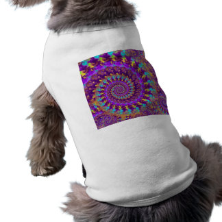 Dog Shirt - Crazy Fractal Purple terquoise yellow