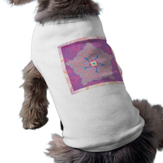 Dog Shirt - Purple Star Fractal Pattern