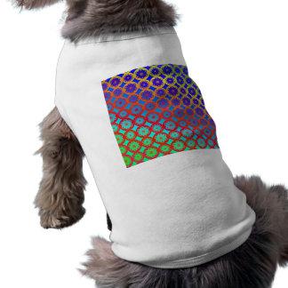 Dog Shirt - Rainbow Mandala Fractal Pattern