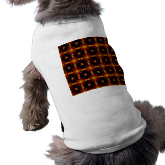Dog Shirt - Retro Fractal Pattern red black yellow