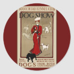 Dog Show Classic Round Sticker