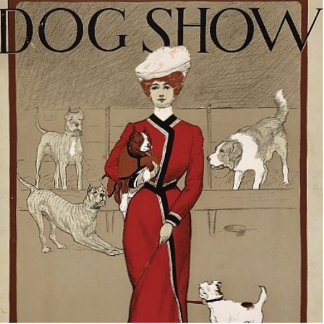 DOG SHOW STANDING PHOTO SCULPTURE