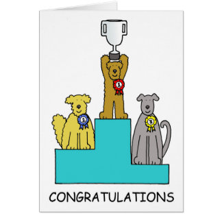 Dog show success congratulations. card