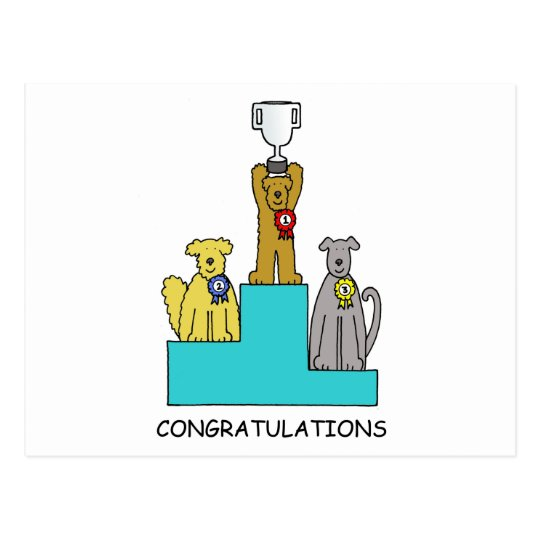 Dog show success congratulations. postcard