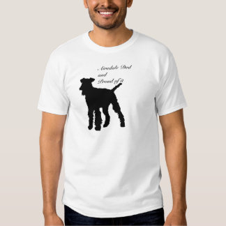 Dog Silhouette Airedale Dad Tshirt