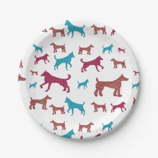 Dog Silhouette Plates