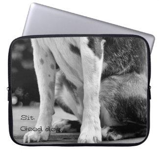 Dog Sit Laptop Sleeves