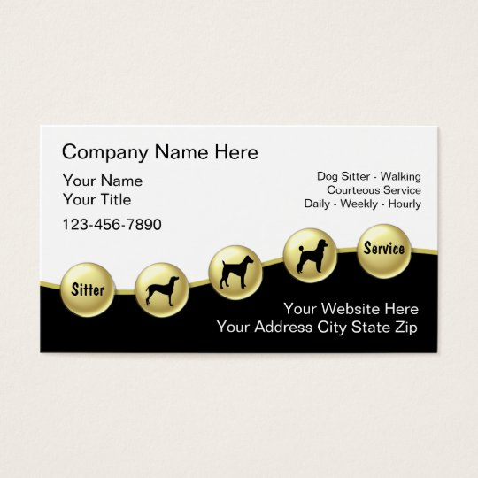 Dog Sitter Business Cards