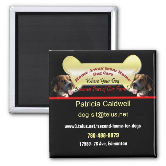 Dog Sitting Business Magnet