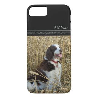 Dog Sitting in Field Custom Photo Pet Case