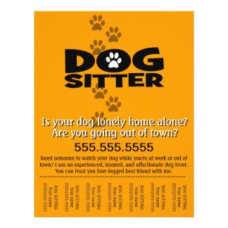 Dog Sitting.Sitter.Service.Business 21.5 Cm X 28 Cm Flyer