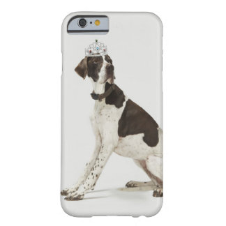 Dog sitting with a tiara on head barely there iPhone 6 case
