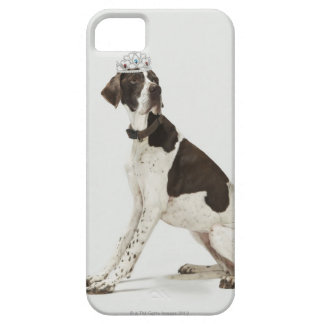 Dog sitting with a tiara on head iPhone 5 covers