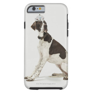 Dog sitting with a tiara on head tough iPhone 6 case