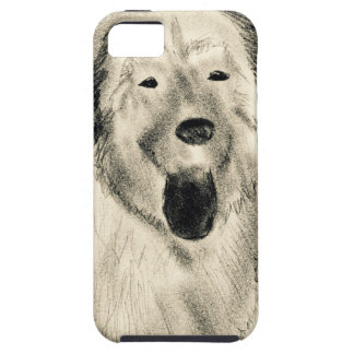 Dog sketch iPhone 5 cases
