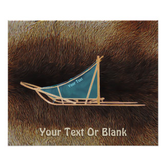 Dog Sled On Caribou Fur Poster