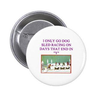 dog sled racing iditarod lover 6 cm round badge