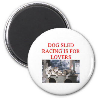 dog sled racing iditarod lover magnet