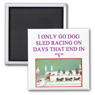 dog sled racing iditarod lover magnets