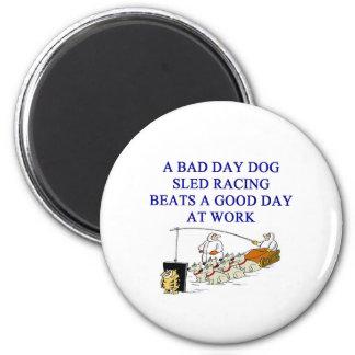 dog sled racing iditarod lover refrigerator magnet