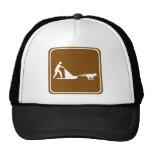 Dog sledding Highway Sign Mesh Hats