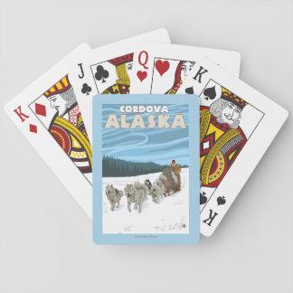Dog Sledding Scene - Cordova, Alaska Playing Cards