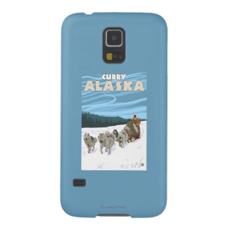 Dog Sledding Scene - Curry, Alaska Galaxy S5 Cover