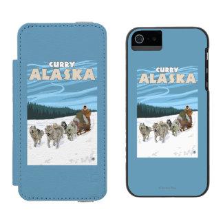 Dog Sledding Scene - Curry, Alaska Incipio Watson™ iPhone 5 Wallet Case