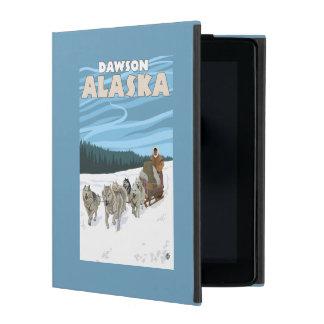 Dog Sledding Scene - Dawson, Alaska Cover For iPad
