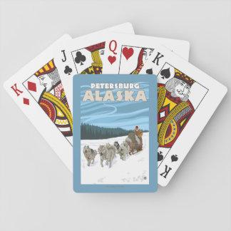 Dog Sledding Scene - Petersburg, Alaska Playing Cards
