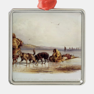 Dog Sledges of the Mandan Indians Christmas Ornament