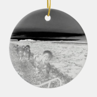 Dog Sledging Christmas Ornament